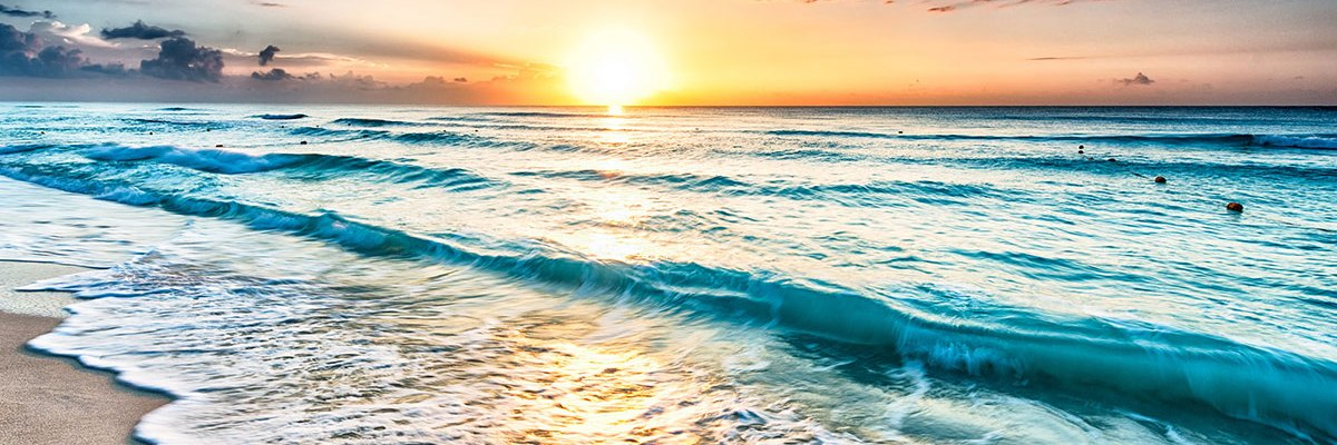 The sunrise at the beach that represents my new beginning.